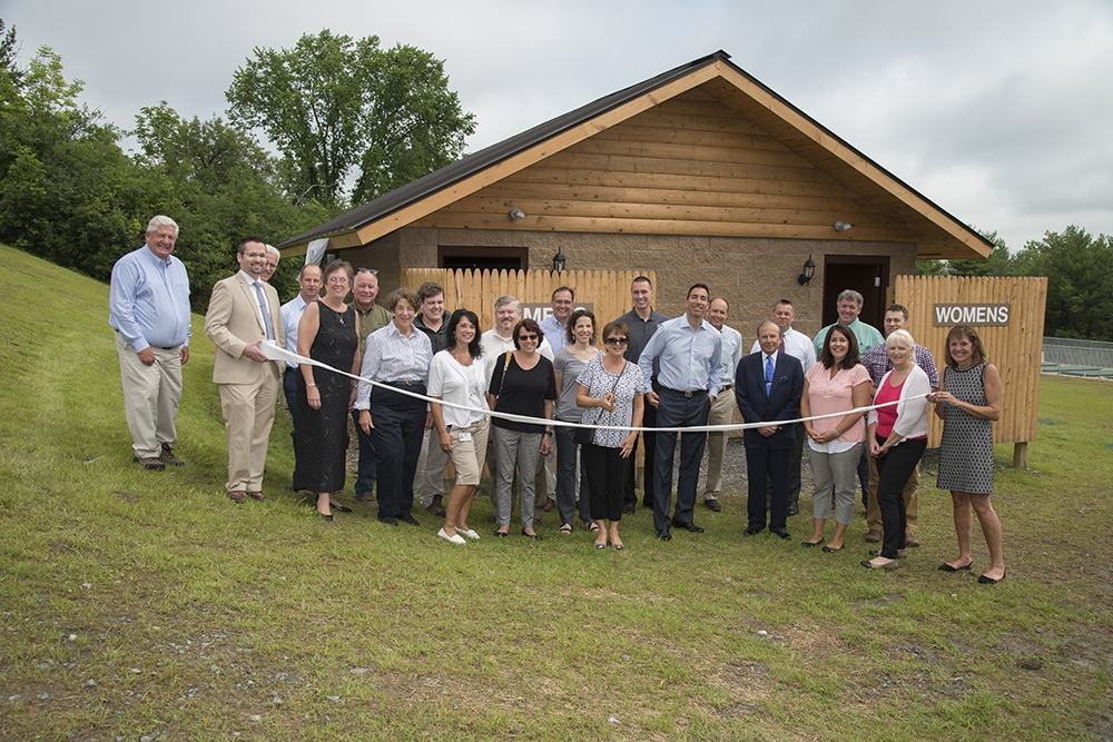 Camp Wildwood Ribbon Cutting at New Bathroom
