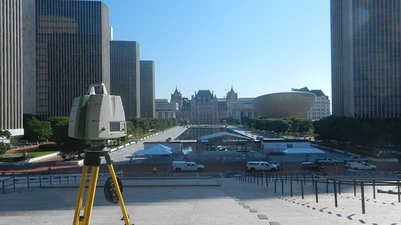 laser scanning of Albany buildings done by C.T. Male Associates