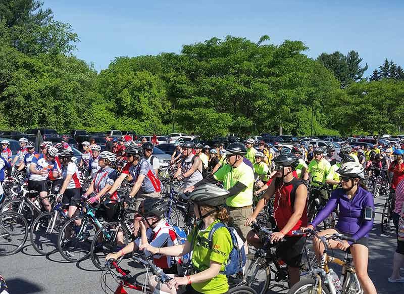 Lineup at the 2015 Saratoga Tour de Cure bike Race