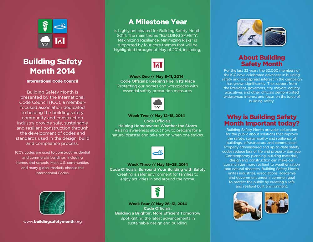 Building Safety Month 2014 Brochure