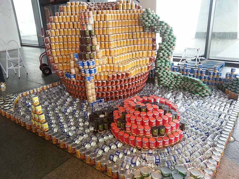 CANstruction James and the Giant Peach