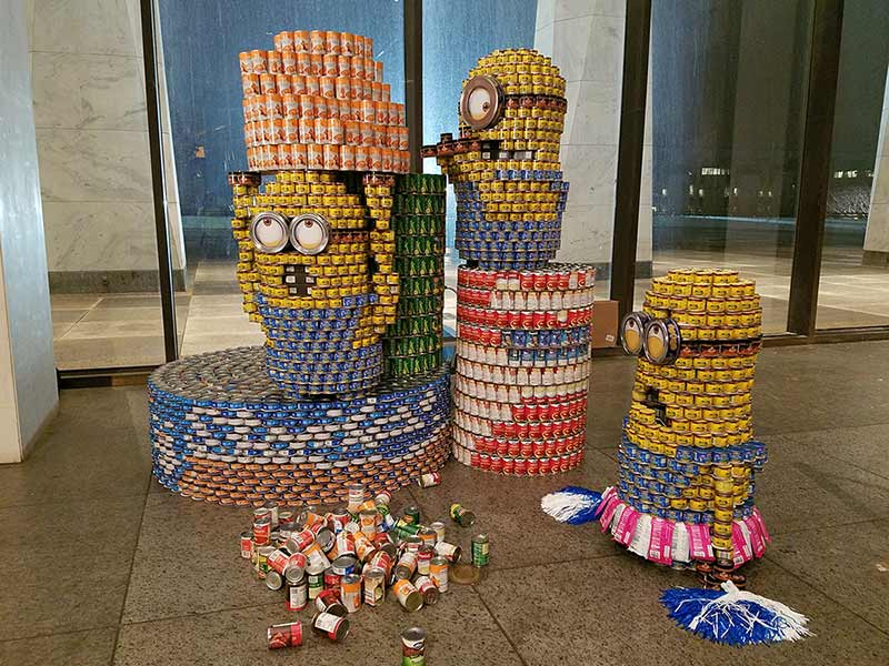 C.T. Male's 2017 minion CANstruction entry