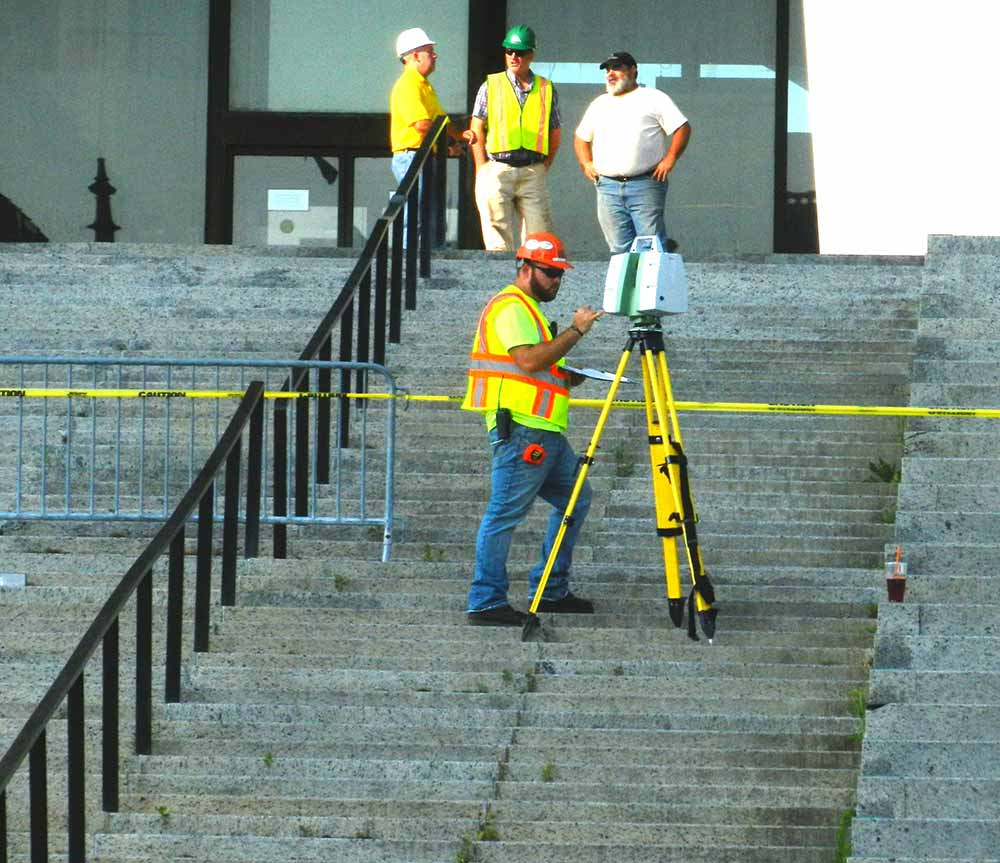 C.T. Male Land Surveyor scanning a project at Empire State Plaza