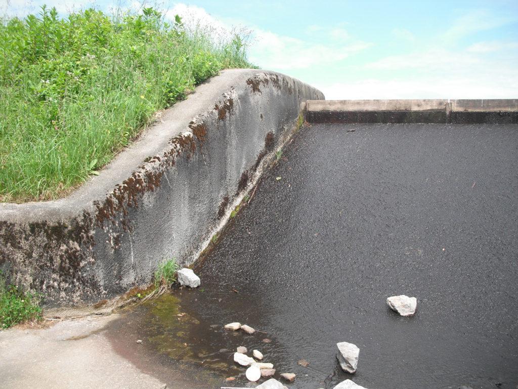 Spillway corrosion