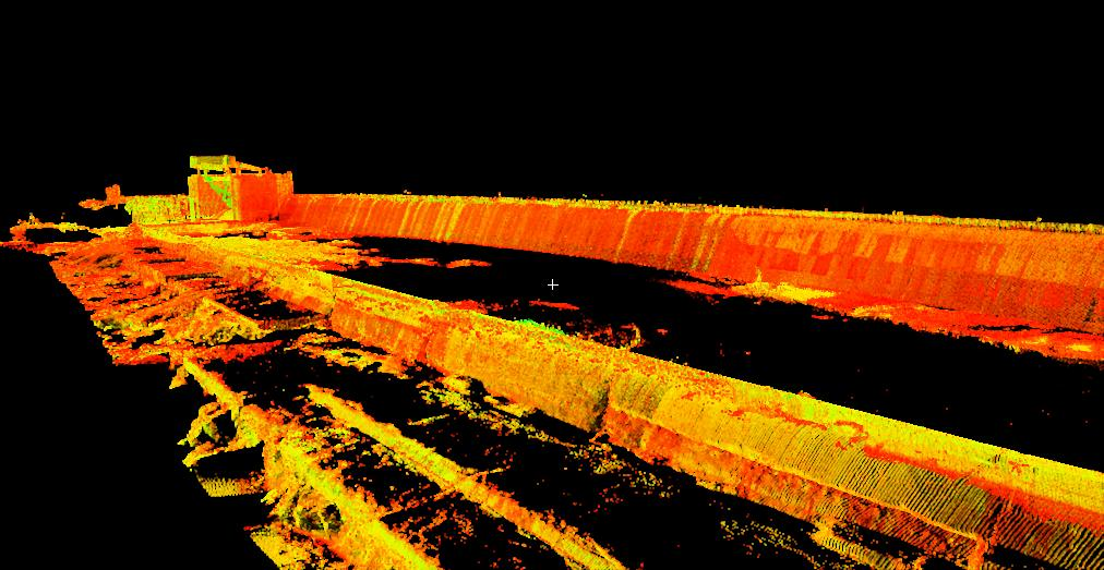 Crescent dam laser survey