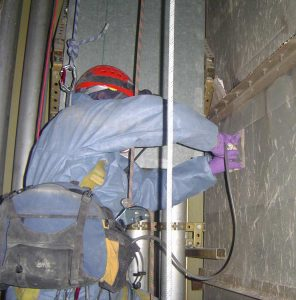 asbestos expert at work