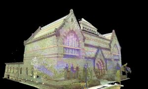 3D image of a building as a result of laser scanning